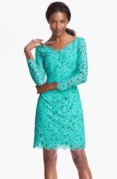 Lilly Pulitzer® 'Helene' Double V-Neck Lace Dress #Nordstrom #FallTrend