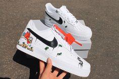 Handmade Customs. Order Now #nike #af1 #custom #sneakers Air Force Sneakers, Nike Air Force, Sneakers Nike, Nike Af1, Custom Sneakers, King, Photo And Video, Handmade, Shoes