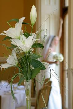 Classical Wedding Flowers | Eden Flower School & Wedding Flowers White Lilies, Reception Decorations, Wedding Reception, Wedding Flowers, Classic Weddings, Projects To Try, Lily, Romantic, Rustic