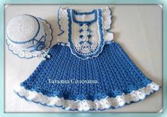 Ideas for baby girl crochet dress website Crochet Dress Girl, Crochet Baby Dress Pattern, Baby Dress Patterns, Baby Girl Crochet, Crochet Baby Clothes, Crochet For Kids, Free Crochet, Knit Crochet, Crochet Patterns