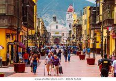 Lima Peru February 2 2018 Daily 스톡 사진(지금 편집) 1042274749 Machu Picchu, South American Countries, Lima Peru, Conquistador, Ancient Ruins, Destin Beach, Walking Tour, Night Life, The Good Place