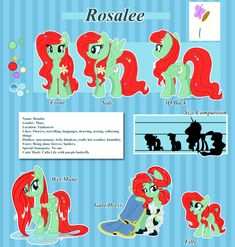 Commission 032: Rosalee Reference Sheet Showstyle by ArcadianPhoenix on DeviantArt
