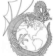 Dragon of World mandala