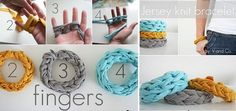 Jersey-Finger-Knitted-Bracelets-DIY