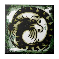 Dragon Ceramic Tile #Dragon #Tile