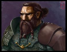 m Dwarf Fighter Portrait by MrHarp on deviantART Character Concept, Character Art, Concept Art, Character Design, Character Ideas, Fantasy Dwarf, Medieval Fantasy, Fantasy Rpg, Fantasy Portraits