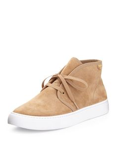 X2ST8 Tory Burch Iggy Lace-Up Sneaker, Light Camel