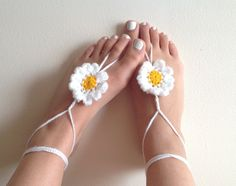 Barefoot sandals crochet barefoot sandals by CrochetedByParis