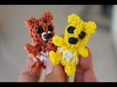 Rainbow loom Nederlands, 3D (teddy) beer - YouTube