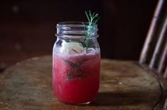 Boozy Watermelon Rosemary Lemonade Recipe on Food52 recipe on Food52 | Seriously, absolutely delicious! It's the perfect balance of watermelon and rosemary. I used Pink Gin aged in Cabernet Barrels from @KnoxWhiskeyWorks because its the best thing sice Betty White.