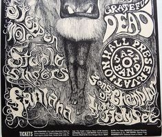 Grateful Dead Poster, The Jam Band, Kinds Of People, Music Lovers, Fire, Design