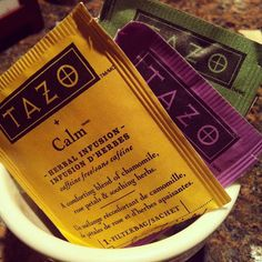 All of our teas are by Tazo. Pick your flavor!