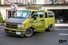 We again visited the Makigaya Base where we discovered a very unique Dodge Ram 150 Van. Dodge Van, Chevy Van, Rat Rods, Jeep, Diesel, Camper, Vanz, Cargo Van, Muscle