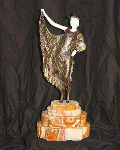 Chiparus-Bronze & Ivory Sculpture-Argentinian Dancer