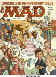 You are purchasing an original Mad Magazine No. 35 from October All pages are in tact. See photos for a better look! This issue is a must-have in every comic book collection! Comic Book Covers, Comic Books, Mad Magazine, Magazine Covers, Alfred E Neuman, American Humor, American History, Ec Comics, Comic Book Collection