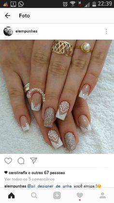 French Manicure Nails, Matte Nails, Manicure And Pedicure, Gel Nails, Acrylic Nails, Bio Sculpture Nails, Shoe Nails, Wedding Nails Design, Nail Tutorials