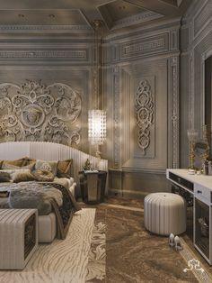 versace & cavalli style on Behance Mansion Interior, Luxury Homes Interior, Luxury Home Decor, Home Interior Design, Luxury Bedroom Design, Master Bedroom Design, Royal Bedroom, Luxury Homes Dream Houses, Dream Rooms