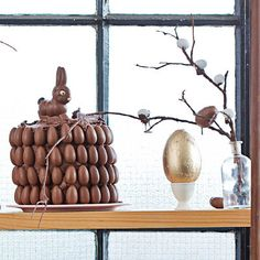 A showstopper Easter egg cake using ready-made cakes from Woolworths and all the Easter eggs your heart desires. Malva Pudding, Easter Egg Cake, Desserts Menu, South African Recipes, Cake Flour, Pudding Recipes, Food To Make, Place Card Holders, Holiday