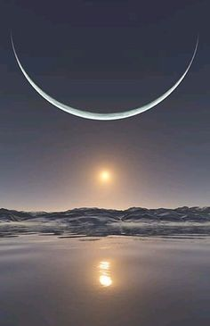 Moon and Sun - moon Photo
