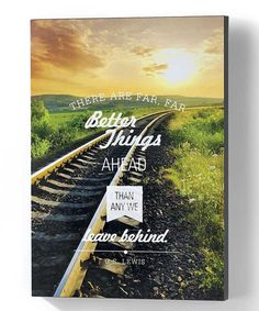 Another great find on #zulily! 'Better Things Ahead' Wall Canvas #zulilyfinds