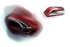 Feu arrière Design Sketch Peugeot 208 028
