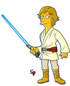 Luke Skywalker Simpsonized