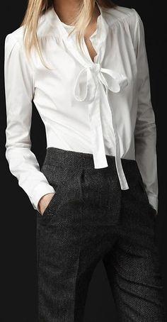 that white shirt .. X ღɱɧღ || Burberry