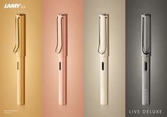 Have you guys seen the gorgeous Lamy Lx fountain pens that were released recently? The LAMY Lx is a sophisticated fountain pen that features a harmonious highquality… Cool Stationary, Lamy, New Pen, Color Plan, Shops, Fountain Pen Ink, Pen Case, Writing Instruments, Basic Colors