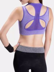 Hollow Out Cross Straps Collarless Sports Bra
