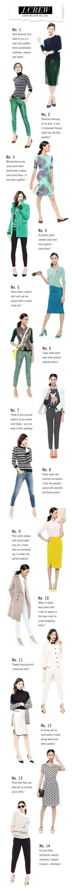J.Crew Looks We Love - A couple nice ones, several that I'll never wear.