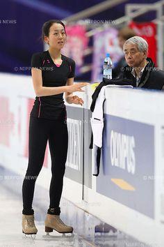 Mao Asada (JPN), APRIL 26, 2011 - Figure Skating : ISU World Figure Skating Championships 2011 Women's Practice at Ice Palace Mega sport, Moscow, Russia. (Photo by YUTAKA/AFLO SPORT) [1040]