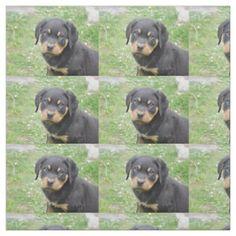 #Doggy McDogface Rottweiler Puppy Fabric - #rottweiler #puppy #rottweilers #dog #dogs #pet #pets #cute