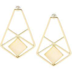 Yoins Geo Enamel Drop Earrings ($4.08) ❤ liked on Polyvore featuring jewelry, earrings, accessories, yoins, gold, enamel jewelry, drop earrings, earring jewelry, enamel earrings and geometric jewelry