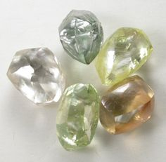 Natural diamond crystals - Botswana, Africa.