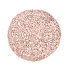 Gehaakt vloerkleed arab flor poeder roze 80 cm - Naco Trade