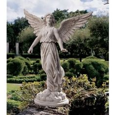 Dramatic Classic Angel Statue Spiritual Art Garden Home Yard Sculpture Angel Garden Statues, Garden Angels, Guardian Angel Tattoo, Angels Tattoo, Cemetery Angels, Angel Tattoo Designs, Sculpture Art, Garden Sculptures, Beautiful