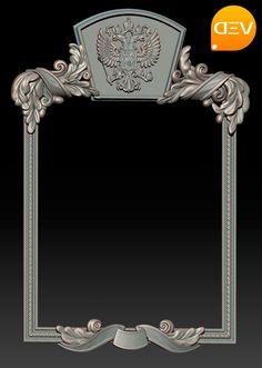 Резная рама для зеркала, модель для ЧПУ