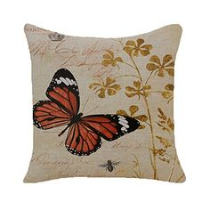Monkeysell European Rural Pillow Cushion Linen Cushion Bird And Flower Parrot Cushion Decorative Pillows Home Decor Throw Pillow Cushion 18Inches 18Inches S069B4 >>> For more information, visit image link. Note: It's an affiliate link to Amazon