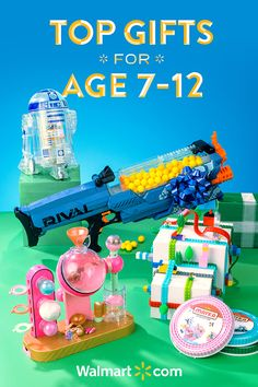 Searching for the perfect kid friendly gift? Walmart has the gifts the kids want. Treat them to something special this year with these fun and thoughtful gift ideas from Walmart. Shop today. Top Gifts for Kids age 7-12 include: Nerf Rival Nemesis, LittleBits Star Wars Droid Inventor Kit, LOL Surprise Fizz Factory and Mayka Construction Tape.