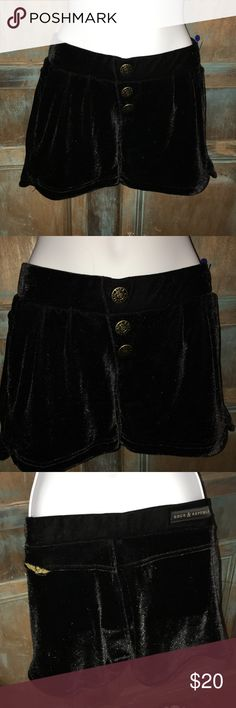 NWOT Rock & Republic Velvet shorts Brand new with tags velour/velvet shorts, working pockets in the front, non working buttons on the front, super soft and cute perfect for fall! No holes or damages! Rock & Republic Shorts