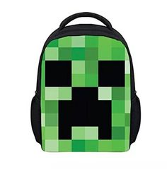 Minecraft Creeper Block Insulated Lunch Bag  Amazing Backpack