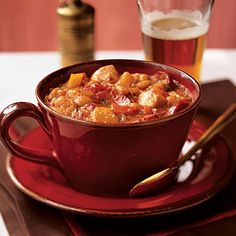 Healthy Chicken Cassoulet with Acorn Squash Recipe