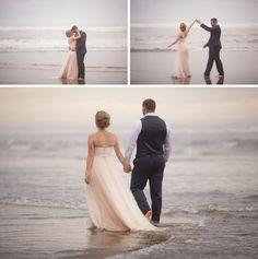beach wedding portland, trash the dress, hug point, shannon hager photography