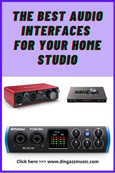 The audio interface is an essential piece of equipment for your home recording studio setup. Choosing the right one will help to make music production easier. So check out these recommendations. #homestudioequipment #homestudiosetup #bestaudiointerface #musicproduction Music Recording Equipment, Music Production Equipment, Home Recording Studio Setup, Home Studio Setup, Home Studio Music, Music Stuff, Music Songs, Home Studio Equipment, Studio Organization