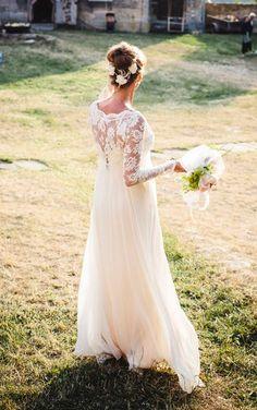 Langarm Lace Hochzeitskleid mit herrlichem von Graceloveslace, $1210.00