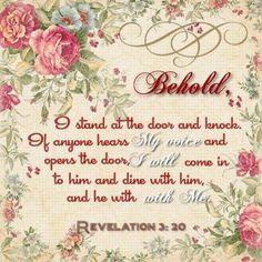 Revelation 3:20 KJV