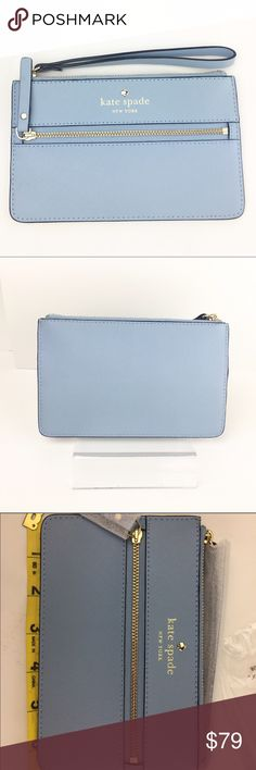 Kate Spade Mikas Pond Bee Wallet/Wristlet Blue NWT Kate Spade Mikas Pond Bee Wallet/Wristlet  Color: Arctic Sky (Light Blue)  Condition: New with tags  We ship daily. Purchase Details:            ❌Trades❌. ⚡️We ship next day ⚡️ kate spade Bags Clutches & Wristlets