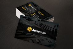 Audio Engineer Business Cards   Logo by Creativenauts on @creativemarket