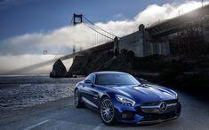 Download imagens 4k, A Mercedes-AMG GT S, supercarros, 2017 carros, Ponte De Portão Dourada, Mercedes