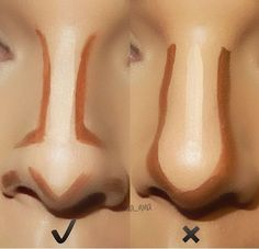How to Contour Your Nose Right? Makeup Tricks Every Girl Should Know – Popcane How to Contour Your Nose Right? Makeup Tricks Every Girl Should Know How to Contour Your Nose Right? Makeup Tricks Every Girl Should Know – Popcane Facial Contouring Makeup, Face Contouring Tutorial, Highlight Contour Makeup, Contouring And Highlighting, Skin Makeup, Drugstore Contouring, How To Contour Your Face, Makeup Brushes, Nose Highlight